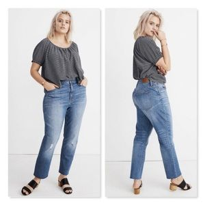 Madewell Tall High-Rise Slim Boyjean in Dover Wash